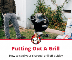 how to put out charcoal grill