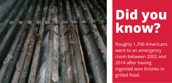 Wire bristles on grill brushes fact